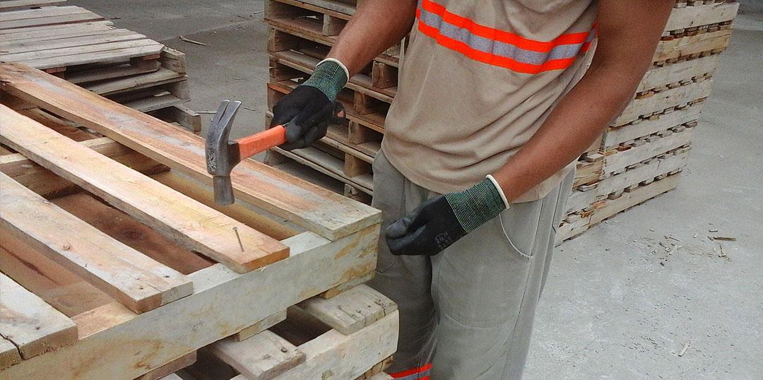 Paletes de madeira reciclado