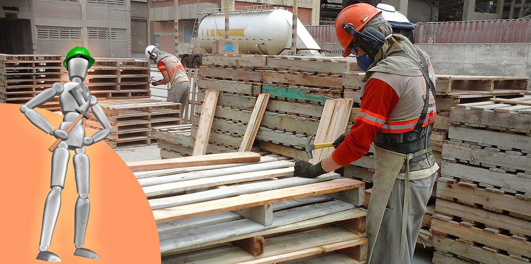 Serviços - Reciclagem de paletes de madeira