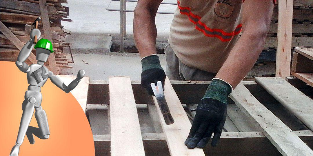 Serviços - Reforma interna de paletes de madeira
